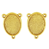 GOLD Finish-Add your picture Rosary Center blanks BRONZE Finish. Now Make you own centerpieces - Wholesale Rosary Parts 3 eyelets