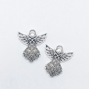 Angel Charm Antique Silver Finish Character Shaped 2.6x2.3cm