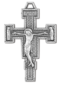 "Our Deluxe Rosary Crucifixes are known for the most beautiful intricate designs Rosary parts Premium CRUCIFIX Renaissance Silver Oxidized Italy 1 3/4"" Silver Oxidized Made in Italy"