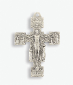 "Our Deluxe Rosary Crucifixes are known for the most beautiful intricate designs Rosary parts Premium Risen Christ Cross Silver Oxidized Italy 2 x 1 1/2"" Silver Oxidized Italy 1 3/4"" Silver Oxidized Made in Italy"