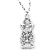 "Beautiful Communion Sterling Silver Traditional Chalice pendant 18"" chain First Holy Communion Gifts"