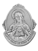Oval Sacred Heart Genuine Pewter Auto Visor Clip Auto Visor Clip Auto V Auto Visor Clips Car Visor Clip