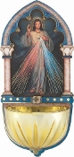 "DIVINE MERCY...5"" Gold Embossed Laser Cut Multi-Dimensional Holy Water Font"