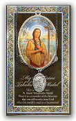 SAINT KATERI TEKAKWITHA.Catholic Medals Real Genuine Pewter Saint Medal with Stainless Steel Chain. Silver Embossed Pamphlet Patron Saint Information and Prayer Included. Lists Biography/History of Each Saint. Gives the Patron Attributes, Feast Day