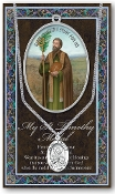 SAINT TIMOTHY MEDAL..Catholic Medals Real Genuine Pewter Saint Medal with Stainless Steel Chain. Silver Embossed Pamphlet Patron Saint Information and Prayer Included. Lists Biography/History of Each Saint. Gives the Patron Attributes, Feast Day