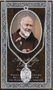 SAINT PIO MEDAL..Catholic Medals Real Genuine Pewter Saint Medal with Stainless Steel Chain. Silver Embossed Pamphlet Patron Saint Information and Prayer Included. Lists Biography/History of Each Saint. Gives the Patron Attributes, Feast Day