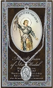 SAINT JOAN OF ARC MEDAL...Catholic Medals Real Genuine Pewter Saint Medal with Stainless Steel Chain. Silver Embossed Pamphlet Patron Saint Information and Prayer Included. Lists Biography/History of Each Saint. Gives the Patron Attributes, Feast Day
