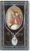 SAINT GREGORY THE GREAT MEDAL Catholic Medals Real Genuine Pewter Saint Medal with Stainless Steel Chain. Silver Embossed Pamphlet Patron Saint Information and Prayer Included. Biography/History of Each Saint. Gives the Patron Attributes, Feast Day