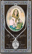 SAINT DYMPHNA MEDAL.Catholic Medals Real Genuine Pewter Saint Medal with Stainless Steel Chain. Silver Embossed Pamphlet Patron Saint Information and Prayer Included. Lists Biography/History of Each Saint. Gives the Patron Attributes, Feast Day