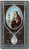SAINT CLARE MEDAL...Catholic Medals Real Genuine Pewter Saint Medal with Stainless Steel Chain. Silver Embossed Pamphlet Patron Saint Information and Prayer Included. Lists Biography/History of Each Saint. Gives the Patron Attributes, Feast Day
