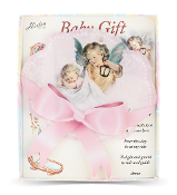 "PINK GUARDIAN ANGEL WITH LANTERN CRIB MEDAL 5"" x 5-1/2"" Pink Guardian Angel with Lantern Crib Medal Gift Boxed."