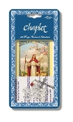 "Comfort of the Deceased Deluxe Chaplet with Crystal Beads Packaged with a Laminated Holy Card & Instruction Pamphlet (Overall 6.5"" x 3.5"")"