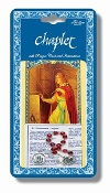 "Saint Philomena Deluxe Chaplet with Glass Beads Packaged with a Laminated Holy Card & Instruction Pamphlet (Overall Size 6.5"" x 3.5"")"