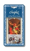 "Saint Michael Deluxe Chaplet with Multi Colored Glass Beads Packaged with a Laminated Holy Card & Instruction Pamphlet (Overall Size 6.5"" x 3.5"")"