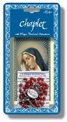 "Deluxe Chaplet of Our Lady of Divine Mercy with Divine Mercy Beads Packaged with a Laminated Holy Card & Instruction Pamphlet (Overall 6.5"" x 3.5"")"