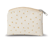"Beige Ostrich Skin Pattern soft Rosary Case with anti-tarish lining. Rosary pouch size 3 1/4""x 4"""