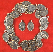 100/Pc St Francis Pet medal COPPER finish BLESS & PROTECT MY PET-Saint Francis of Assisi , the Patron of Animals- Image of St. Francis, the Patron of Animals Christian/Religious Pet Medals- Feast day October 4th