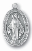 25/Pc Large Silver Oxidized Miraculous Medal 1 1/2 Oval Italy..The Miraculous Medal, also known as the Medal of the Immaculate Conception, is a medal created by Saint Catherine Labouré in response to a request from the Blessed Virgin Mary. ..