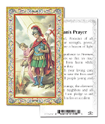 "Fireman's Prayer Gold Embossed Paper HOLY CARD Italy 100/Pack 2"" x 4"" Gold Embossed Italian paper Holy Card with Prayer. Feature 3/8"" Florentine Border by Fratelli Bonella of Milan, Italy. Corresponding Prayer Printed on the Reverse Side of Card."