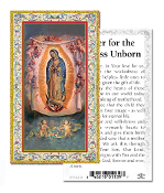 "Prayer for the Helpless Unborn Gold Embossed Paper HOLY CARD with Prayer 100/Pack..Made In Italy 2""x4"". Feature 3/8"" Florentine Border by Fratelli Bonella of Milan, Italy. Corresponding Prayer Printed on the Reverse Side of Card."