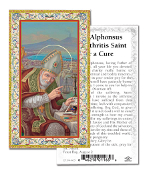 "Prayer to Saint Alphonsus Gold Embossed Paper HOLY CARD with Prayer 100/Pack..Made In Italy 2""x4"". Feature 3/8"" Florentine Border by Fratelli Bonella of Milan, Italy. Corresponding Prayer Printed on the Reverse Side of Card."