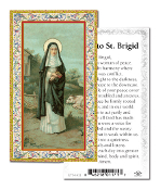 "Prayer to Saint Brigid Holy Card with Prayer ITALY PAPER. Made In Italy 2""x4"" Gold Embossed Italian paper Holy Card with Prayer by Fratelli Bonella of Milan, Italy. Corresponding Prayer Printed on the Reverse Side of Card."