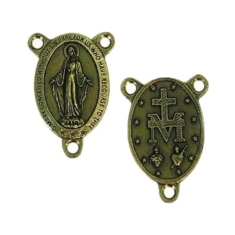 20/Pc Premium Miraculous Medal -Brass Finish Rosary Center-Italy. The Premium Brass finish has been perfected for years by the local Italian craftsmen, and remains unmatched in quality, beauty, and longevity throughout the world..