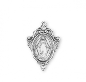 Fancy Border Miraculous Medal Sterling Silver 1830 Chain-Boxed..Miraculous Medal 1830 All of our Fine Sterling Silver Medals are made of only the finest materials available.