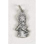 25/Pk Immaculate Heart Silhouette medal Silver Oxidized 2.3cm -This exceptionally detailed die-cast medal is made in the region of Italy that produces the finest quality medals in the world.. Premium Genuine Silver Oxidized Finish