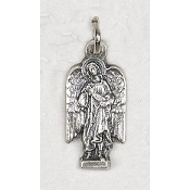 25/Pk Archangel Raphael Silhouette medal Silver Oxidized 2.3cm -This exceptionally detailed die-cast medal is made in the region of Italy that produces the finest quality medals in the world.. Premium Genuine Silver Oxidized Finish