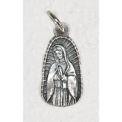 25/Pk Our Lady of Guadalupe Silhouette medal Silver Oxidized 2.3cm-This exceptionally detailed die-cast medal is made in the region of Italy that produces the finest quality medals in the world.. Premium Genuine Silver Oxidized Finish
