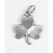 "25/Pk Shamrock Silhouette medal Genuine Silver Oxidized 3/4""-This exceptionally detailed die-cast medal is made in the region of Italy that produces the finest quality medals in the world.. Premium Genuine Silver Oxidized Finish"