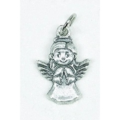 "25/Pk Angel Silhouette medal Genuine Silver Oxidized Italy 3/4"" -This exceptionally detailed die-cast medal is made in the region of Italy that produces the finest quality medals in the world.. Premium Genuine Silver Oxidized Finish"