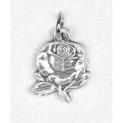 "25/Pk Rose Petal Silhouette medal Genuine Silver Oxidized 3/4"" -This exceptionally detailed die-cast medal is made in the region of Italy that produces the finest quality medals in the world.. Premium Genuine Silver Oxidized Finish"