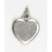 "25/Pk Heart Silhouette Charm Genuine Silver Oxidized Italy 3/4"" -This exceptionally detailed die-cast medal is made in the region of Italy that produces the finest quality medals in the world.. Premium Genuine Silver Oxidized Finish"