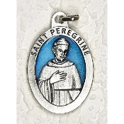 10/Pc Saint Peregrine 1-1/2 Inch Oval Blue Enamel Silver Medal BULK-Extra large Premium Italian made Enameled medals Genuine SILVER OXIDIZED Finish-This exceptionally detailed die-cast is made in the region of Italy that produces...