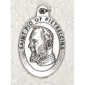 "24/Pc LARGE St Pio of Pietrelcina 1.5"" Silver Oxidized Medal BULK Italy-Extra large Premium Italian made medals Genuine SILVER OXIDIZED Finish. This exceptionally detailed die-cast is made in the region of Italy that produces the finest..."