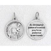 "24/Pc Prayer Medal St Christopher Silver Tone BULK Italy 3/4""-Premium Italian made medals Genuine SILVER OXIDIZED Finish..Prayer Medals: Prayer on Back Side. This exceptionally detailed die-cast is made in the region of Italy that..."