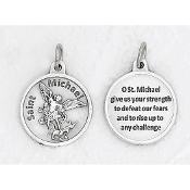 "24/Pc Round Prayer Medal Saint Michael Silver Tone BULK Italy 3/4""-Premium Italian made medals Genuine SILVER OXIDIZED Finish..Prayer Medals: Prayer on Back Side. This exceptionally detailed die-cast is made in the region of Italy that..."