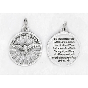 "24/Pc Round Prayer Medal Come Holy Spirit Silver Tone BULK Italy 3/4""-Premium Italian made medals Genuine SILVER OXIDIZED Finish..Prayer Medals: Prayer on Back Side. This exceptionally detailed die-cast is made in the region of Italy that..."