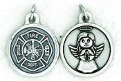 "24/Pc Round Prayer Medal Fireman/Guardian Silver Tone BULK Italy 3/4""-Premium Italian made medals Genuine SILVER OXIDIZED Finish..Prayer Medals: Prayer on Back Side. This exceptionally detailed die-cast is made in the region of Italy that..."