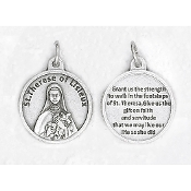 "24/Pc Round Prayer Medal St Therese of Lisieux Silver Tone BULK Italy 3/4""-Premium Italian made medals Genuine SILVER OXIDIZED Finish..Prayer Medals: Prayer on Back Side. This exceptionally detailed die-cast is made in the region of Italy that..."