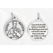 "24/Pc Round Prayer Medal Saint Gerard Silver Tone BULK Italy 3/4""-Premium Italian made medals Genuine SILVER OXIDIZED Finish..Prayer Medals: Prayer on Back Side. This exceptionally detailed die-cast is made in the region of Italy that..."