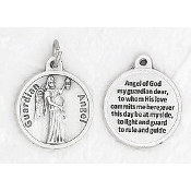"24/Pc Round Prayer Medal Guardian Angel Silver Tone BULK Italy 3/4""-Premium Italian made medals Genuine SILVER OXIDIZED Finish..Prayer Medals: Prayer on Back Side. This exceptionally detailed die-cast is made in the region of Italy that..."