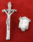 DIY Premium Rosary Set Centerpiece USA and Crucifix ITALY-Our Deluxe Rosary Parts are known for the most Beautiful intricate designs. Sterling Silver 1 Sterling Silver Miraculous Rosary Centerpiece - Premium Genuine Silver Oxidized Papal Crucifix.